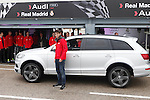 Real Madrid player Alvaro Morata participates and receives new Audi during the presentation of Real Madrid's new cars made by Audi at the Jarama racetrack on November 8, 2012 in Madrid, Spain.(ALTERPHOTOS/Harry S. Stamper)