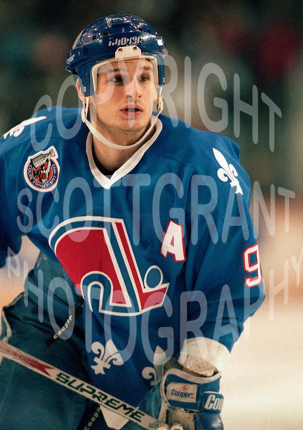 Mike Ricci Quebec Nordiques 1993. Photo F. Scott Grant
