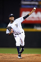 Empire State Yankees pitcher Francisco Rondon #23 during game four of a best of five playoff series against the Pawtucket Red Sox at Frontier Field on September 8, 2012 in Rochester, New York.  Pawtucket defeated Empire State 7-1 to advance to the International League Finals.  (Mike Janes/Four Seam Images)