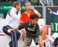 14-09-12, Netherlands, Amsterdam, Tennis, Daviscup Netherlands-Swiss,  ballboy