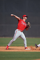 Philadelphia Phillies Seth Lancaster (26) during a Minor League Spring Training game against the New York Yankees on March 23, 2019 at the New York Yankees Minor League Complex in Tampa, Florida.  (Mike Janes/Four Seam Images)