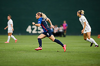 TACOMA, WA - JULY 31: Eugenie Le Sommer #9 of the OL Reign during a game between Racing Louisville FC and OL Reign at Cheney Stadium on July 31, 2021 in Tacoma, Washington.