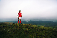 Scarlets and Wales international rugby player Jonathan Davies in the Black Mountains, Carmarthenshire, Wales, UK. Wednesday 18 October 2017