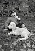 Anna eating Shepherds ice-cream; Cwm Farm 1988.