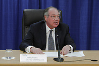 Commissioner Michel Bastarache unveils the report of his inquiry in the appointment of judges, commonly know as the Commission Bastarache, Wednesday January 19, 2011.<br /> <br /> PHOTO :  Francis Vachon - Agence Quebec Presse