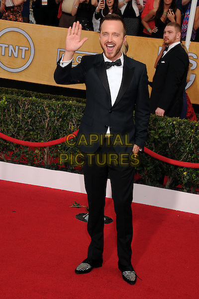 18 January 2014 - Los Angeles, California - Aaron Paul. 20th Annual Screen Actors Guild Awards - Arrivals held at The Shrine Auditorium. Photo Credit: Byron Purvis/AdMedia<br /> CAP/ADM/BP<br /> ©Byron Purvis/AdMedia/Capital Pictures