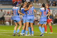 Chicago, IL - Saturday Sept. 24, 2016: Cara Walls goal celebration during a regular season National Women's Soccer League (NWSL) match between the Chicago Red Stars and the Washington Spirit at Toyota Park.