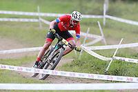 28th August 2021; Commezzadura, Trentino, Italy;  2021 Mountain Bike Cycling World Championships, Val di Sole; Cross Country, Mens Under 23, Martin VIDAURRE KOSSMANN (CHI)
