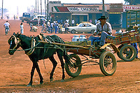 Transporte em carroça.  Rolim de Moura, Rondonia. 1998. Foto de Ricardo Azoury.