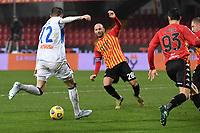 Josip Ilicic of Atalanta scores the 0-1 goal<br /> during the Serie A football match between Benevento Calcio and Atalanta BC at Ciro Vigorito stadium in Benevento (Italy), January 9th, 2021. Photo Andrea Staccioli / Insidefoto
