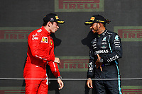 LECLERC Charles (mco), Scuderia Ferrari SF21, portrait HAMILTON Lewis (gbr), Mercedes AMG F1 GP W12 E Performance, portrait portrait during the Formula 1 Pirelli British Grand Prix 2021, 10th round of the 2021 FIA Formula One World Championship from July 16 to 18, 2021 on the Silverstone Circuit, in Silverstone, United Kingdom -<br /> Formula 1 GP Great Britain Silverstone 18/07/2021<br /> Photo DPPI/Panoramic/Insidefoto <br /> ITALY ONLY