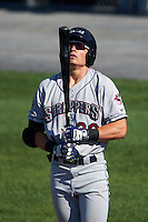 Mahoning Valley Scrappers right fielder Mitch Longo (30) at bat during a game against the Auburn Doubledays on June 19, 2016 at Falcon Park in Auburn, New York.  Mahoning Valley defeated Auburn 14-3.  (Mike Janes/Four Seam Images)