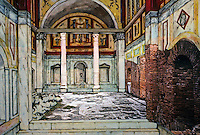 Italy: Ostia--Seven Baths of Neptune. Reconstruction.