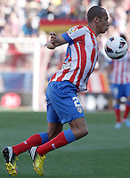 Atletico de Madrid's Joao Miranda during La Liga match.April 14,2013. (ALTERPHOTOS/Acero)