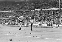 30.07.1966. Wembley Stadium, London England. 1966 World Cup final England versus Germany (4-2) After Extra time.  Wolfgang Weber (L, GER) and Roger Hunt (ENG).