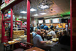 """© Joel Goodman - 07973 332324 . 17/12/2016 . Manchester , UK . People queue for food at a takeaway on Deansgate . Revellers out in Manchester City Centre overnight during """" Mad Friday """" , named for being one of the busiest nights of the year for the emergency services in the UK . Photo credit : Joel Goodman"""