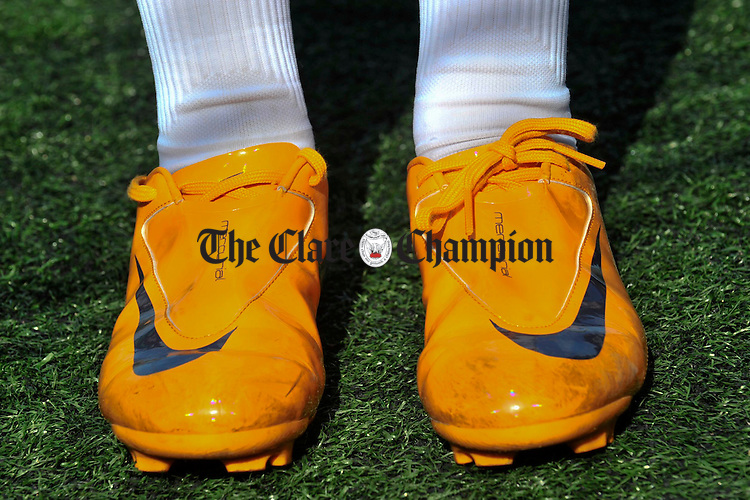 New fashionable football boots at the Wolfe Tones GAA Easter Camp 2008 in Shannon. Photograph by John Kelly.