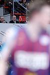 KIng Juan Carlos I of Spain (c), the President of ACB Eduardo Portela (l) and and the Lehendakari (President) of the Goverment of Basque Country Inigo Urkullu (r) during the Spanish Basketball King's Cup Final match.February 07,2013. (ALTERPHOTOS/Acero)