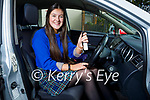 Tara Kissane form Killarney picks up her car on Monday, that she won from Kingdom Autopoint in Tralee in their recently run social media competition.