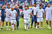 Foxborough, MA - Saturday June 18, 2016: Argentina, Lionel Messi prior to a Copa America Centenario quarterfinal match between Argentina (ARG) and Venezuela (VEN)  at Gillette Stadium.