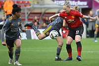 Leah Galton (Manchester United Women) during the English Womens Championship match between Manchester United Women and Leicester City Women at Leigh Sports Village, Leigh, England on 10 March 2019. Photo by James Gill / PRiME Media Images.