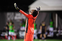 LAKE BUENA VISTA, FL - AUGUST 06: Pedro Gallese #1 of Orlando City SC celebrates the victory during a game between Orlando City SC and Minnesota United FC at ESPN Wide World of Sports on August 06, 2020 in Lake Buena Vista, Florida.