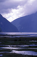 New Zealand,  December 1994  ..New Zealand Milford sound..Photo Kees Metselaar