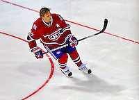 24 January 2009: Montreal Canadiens right wing forward Alexei Kovalev participates in the NHL Fan Fav Breakaway Challenge collecting a 19.7% Fan Vote in the NHL SuperSkills Competition, part of the All-Star Weekend at the Bell Centre in Montreal, Quebec, Canada. ***** Editorial Sales Only ***** Mandatory Photo Credit: Ed Wolfstein Photo
