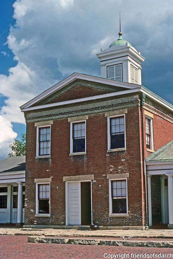 Galena: Old Market House, 1845-46. Photo '77.