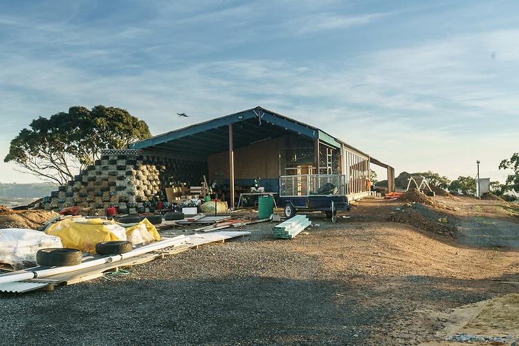 SA Home Mag, Inman Valley Earthship, Progress .Photo: Nick Clayton.