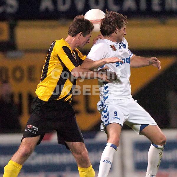 veendam - agovv jupiler league seizoen 2007-2008 21-09-2007  kopduel ter heide en koster