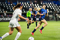 TACOMA, WA - JULY 31: Bethany Balcer #24 of the OL Reign looks on during a game between Racing Louisville FC and OL Reign at Cheney Stadium on July 31, 2021 in Tacoma, Washington.