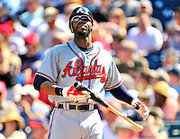 25 September 2010: Atlanta Braves outfielder Jason Heyward in action against the Washington Nationals at Nationals Park in Washington, DC. The Braves shut out the Nationals 5-0 to even their 3-game series at one win apiece. The Braves' victory was the 2500th career win for skipper Bobby Cox. Cox will retire at the end of the 2010 season, crowning a 29-year managerial career. Mandatory Credit: Ed Wolfstein Photo