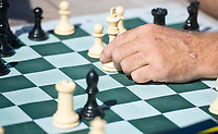 Lock makes a move Sunday Oct. 10, 2021 at Murphy Park in Springdale. Visit nwaonline.com/210001011Daily/  (NWA Democrat-Gazette/J.T. Wampler)
