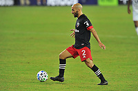 WASHINGTON, DC - SEPTEMBER 27: Federico Higuain #2 of D.C. United moves the ball during a game between New England Revolution and D.C. United at Audi Field on September 27, 2020 in Washington, DC.