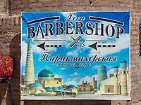 Friseur in Xiva, Usbekistan, Asien<br /> barber in historic city Ichan Qala, Chiwa, Uzbekistan, Asia