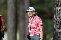 CHAPEL HILL, NC - OCTOBER 13: Head coach Therese Hession of the Ohio State University at UNC Finley Golf Course on October 13, 2019 in Chapel Hill, North Carolina.