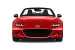 Car photography straight front view of a 2016 Mazda MX-5 Skycruise 2 Door Convertible Front View