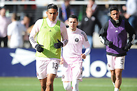 WASHINGTON, DC - MARCH 07: Victor Ulloa #13 of Inter Miami CF during pre game warmups during a game between Inter Miami CF and D.C. United at Audi Field on March 07, 2020 in Washington, DC.