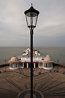 A wide angle photograph of Cromer Pier on a stormy day.