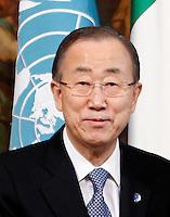 Il segretario nazionale dell'ONU Ban Ki-moon incontra il Presidente del Consiglio a Palazzo Chigi, Roma, 18 marzo 2015.<br /> UN Secretary-General Ban Ki-moon meets Italian Premier at Chigi Palace, Rome, 18 March 2015.<br /> UPDATE IMAGES PRESS/Isabella Bonotto