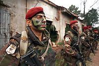 - paratroopers of the airborne brigade Folgore in training..- paracadutisti della brigata aerotrasportata Folgore in addestramento