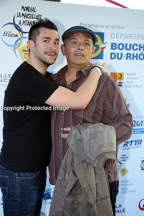ERIC COLLADO , ANTHONY JOUBERT - SOIREE DE LANCEMENT DU MONDIAL LA MARSEILLAISE DE PETANQUE A MARSEILLE . FRANCE , 02/07/2017