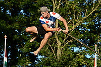 FIERLJEPPEN: GRIJPSKERK: 05-08-2020, Ysbrand Galama, winnende afstand 21,10m, ©foto Martin de Jong
