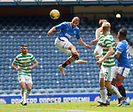 02.05.2021 Rangers v Celtic: Kemar Roofe heads in his second goal