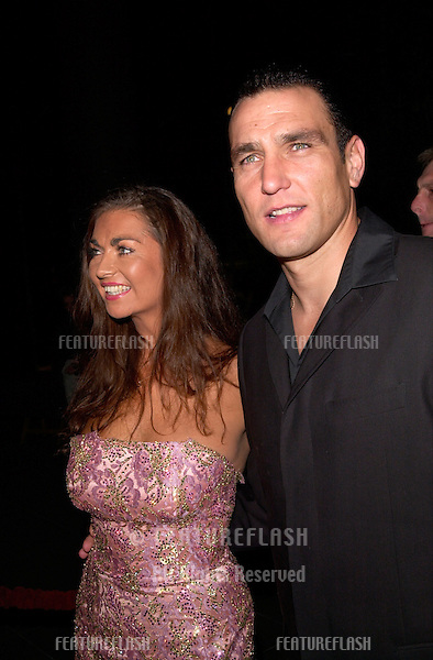 Actor VINNIE JONES & wife at the Los Angeles premiere of his new movie Snatch..18JAN2001.  © Paul Smith/Featureflash