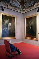 Il 'Ritratto di Anton Sale-Brignole' ed il 'Ritratto di Pauline Adorno', a destra, di Antoon Van Dick, nel Museo di Palazzo Rosso a Genova.<br /> Anthony Van Dick's 'Portrtait of Anton Sale-Brignole' and 'Portrait of Pauline Adorno', right, at Palazzo Rosso's Museum, Genoa.<br /> UPDATE IMAGES PRESS/Riccardo De Luca