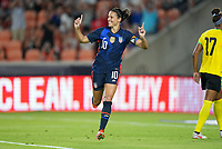 HOUSTON, TX - JUNE 13: Carli Lloyd #10 of the United States scores a goal and celebrates during a game between Jamaica and USWNT at BBVA Stadium on June 13, 2021 in Houston, Texas.