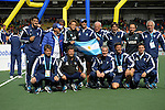 The Hague, Netherlands, June 15: The third placed team of Argentina with head coach Carlos Retegui of Argentina (with flag) poses during the prize giving ceremony on June 15, 2014 during the World Cup 2014 at Kyocera Stadium in The Hague, Netherlands. (Photo by Dirk Markgraf / www.265-images.com) *** Local caption ***