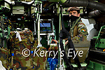 Private James Pierce inside the CRV at the Irish Defence Forces manoeuvres in Tralee
